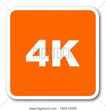 4k orange flat design modern web icon