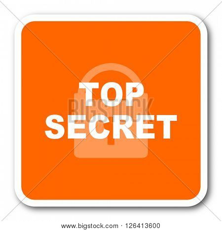 top seret orange flat design modern web icon