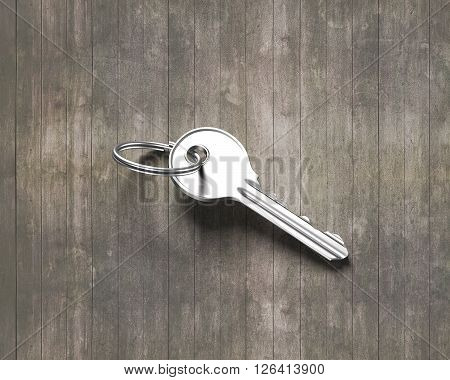 Silver Key With Ring