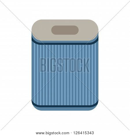 Filter. Flat icon isolated on a white background. Air purification. Vector illustration