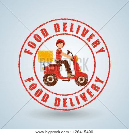 food delivery design, vector illustration eps10 graphic