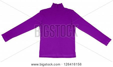 T-shirt With Long Sleeves - Purple