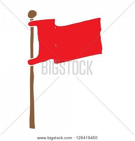 flag on a pole cartoon