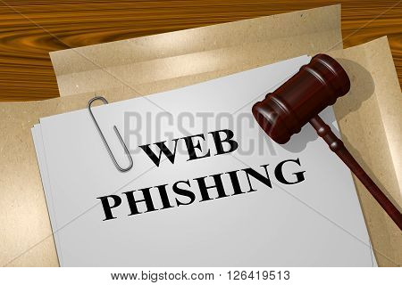 Web Phishing Legal Concept