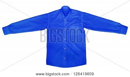 Shirt With Long Sleeves - Dark Blue