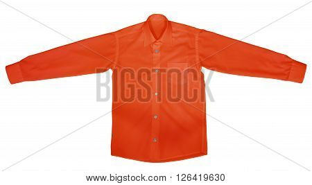 Shirt With Long Sleeves - Red