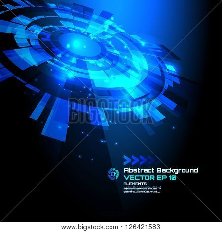 sci-fi abstract background for futuristic high tech design - vector