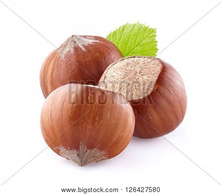Hazelnuts in closeup