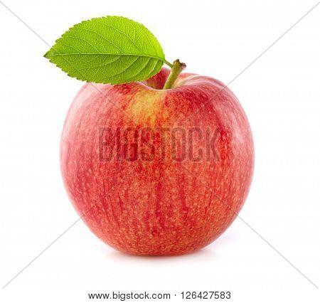 Fresh apple with leaf