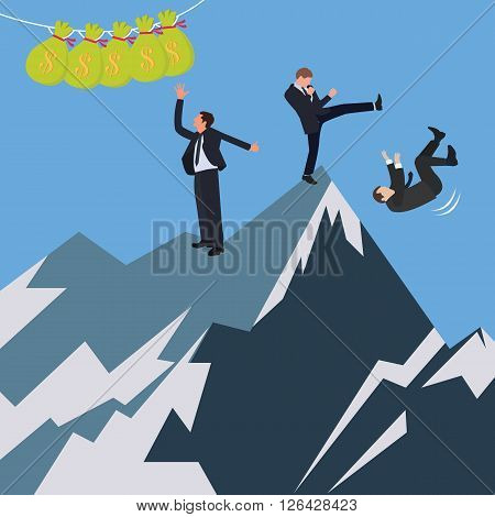 business conflict office try fight to reach get money vector