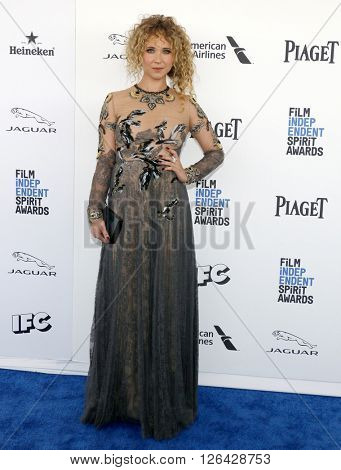 Juno Temple at the 2016 Film Independent Spirit Awards held at the Santa Monica Beach in Santa Monica, USA on February 27, 2016.