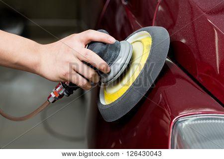 Car detailing series : Polishing red car