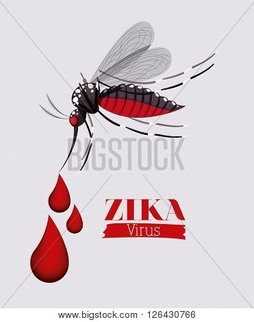 the Zika virus design, vector illustration eps10 graphic