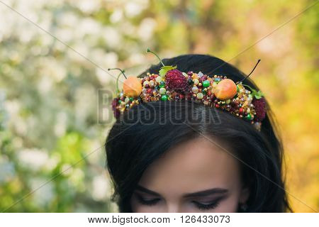 Young Attractive Smiling Woman With Beaded Headband