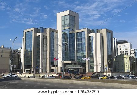 MOSCOW, RUSSIA - MARCH 28, 2016: Administrative building of the company