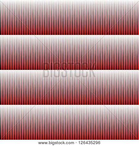 Seamless Stripe and Line Pattern. Vector Black and Red Texture