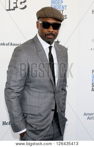 Idris Elba at the 2016 Film Independent Spirit Awards held at the Santa Monica Beach in Santa Monica, USA on February 27, 2016.