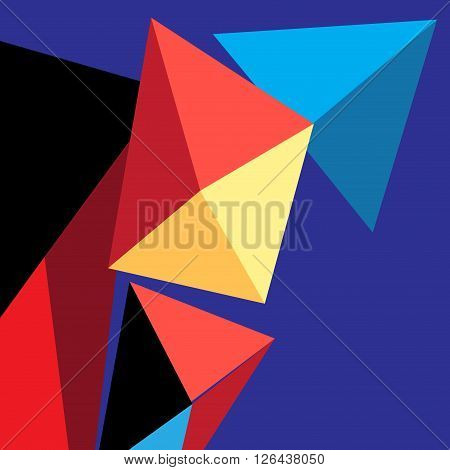 Bright vector background with contour geometric elements .