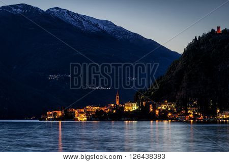 Lago di Como (Lake Como) Varenna at blue hour