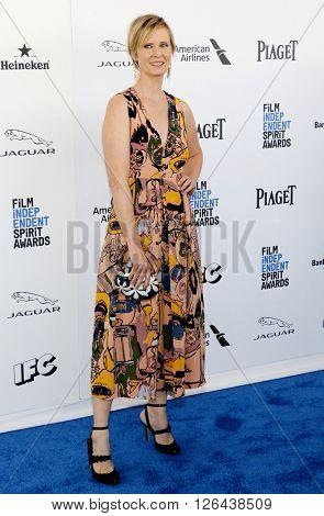 Cynthia Nixon at the 2016 Film Independent Spirit Awards held at the Santa Monica Beach in Santa Monica, USA on February 27, 2016.