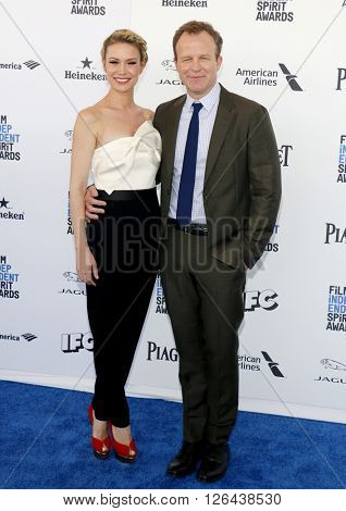 Wendy Merry and Tom McCarthy at the 2016 Film Independent Spirit Awards held at the Santa Monica Beach in Santa Monica, USA on February 27, 2016.