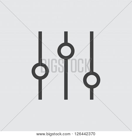 Slider icon, isolated on white background illustration