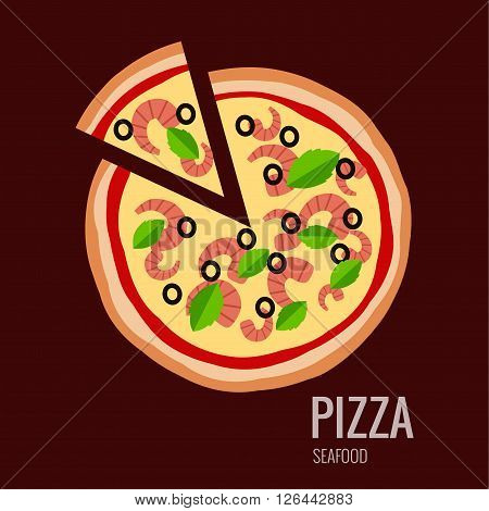 Pizza piece icon background. Pizza icon flat design.  Flat illustration of pizza slice for pizza menu. Vector pizza  silhouette collection. Pizza icon. Pizza isolated  background. Pizza food illustration