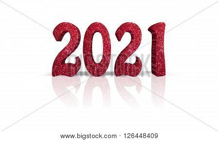2021 - 3d word with refelction !