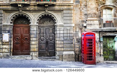 old streets of Valletta downtown. Malta