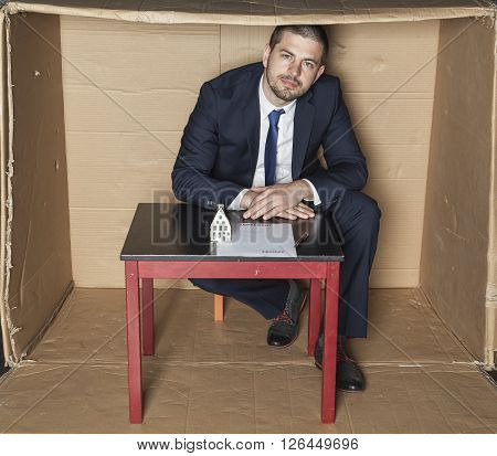 Businessman Waiting For Customer Signature