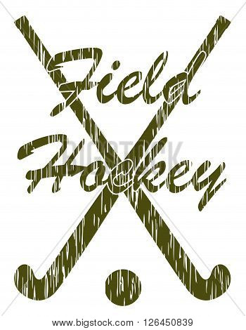 field hockey sport concept vector illustration isolated on white background