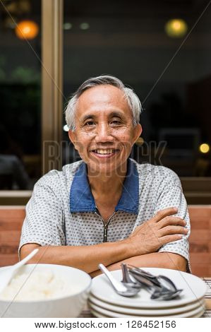 Happy Asian Male Senior