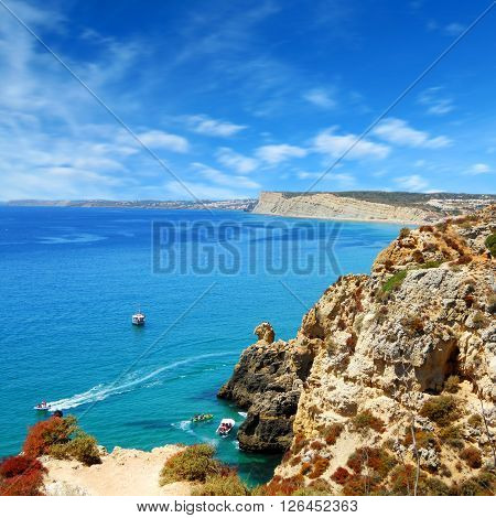 a beautiful view of the Algarve landscape