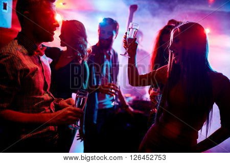 Dancing and drinking
