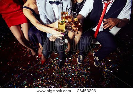 Toasting after party