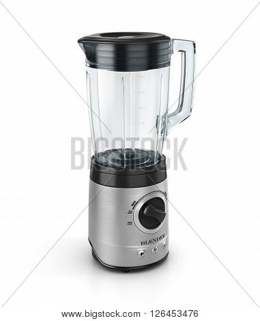 Electric blender. Kitchen appliance equipment isolated on white. 3d illustration
