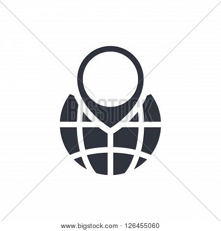 Ecology Globe Icon In Vector Format. Premium Quality Ecology Globe Symbol. Web Graphic Ecology Globe