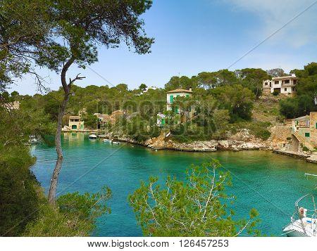 beautiful bay of cala figuera majorca spain