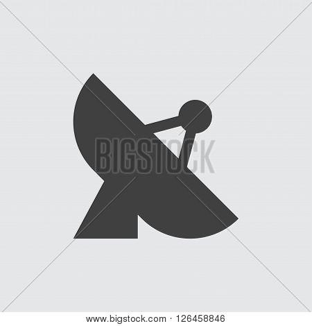 antenna icon, isolated on white background illustration