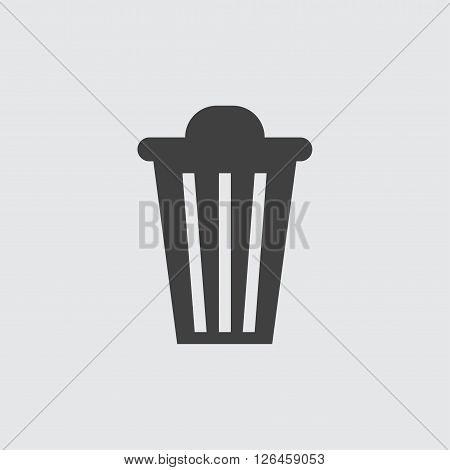 trash can icon, isolated on white background illustration