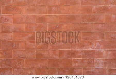 Grunge red brick wall background brick pattern