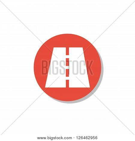 Road Icon In Vector Format. Premium Quality Road Icon. Web Graphic Road Icon Sign On Red Circle Back