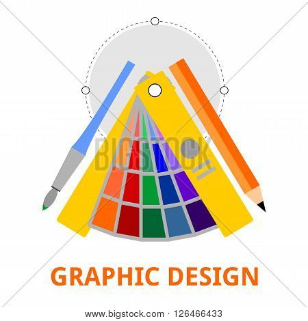 An illustration showing a graphic design concept
