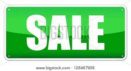 Green card SALE isolated over white background