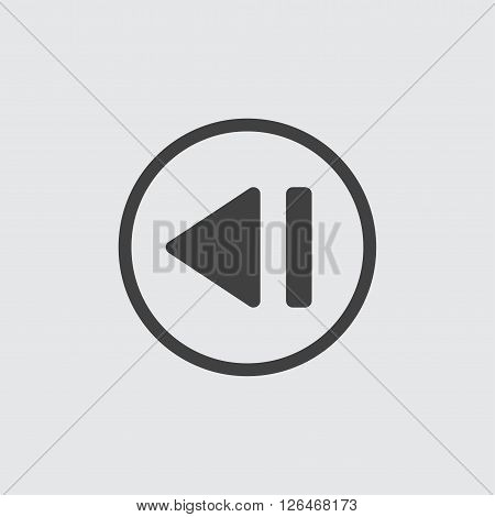 rewind icon, isolated on white background illustration
