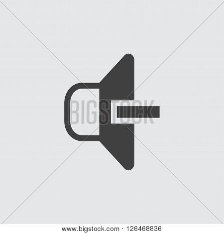 decrease volume icon, isolated on white background illustration