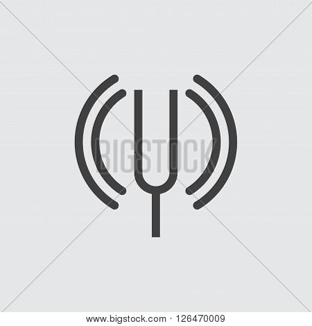 tuning fork icon, isolated on white background illustration