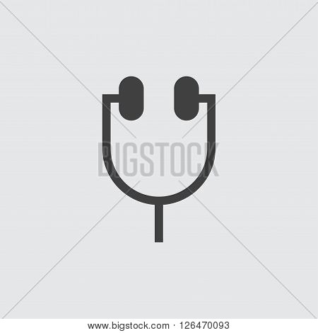 earphones icon, isolated on white background illustration