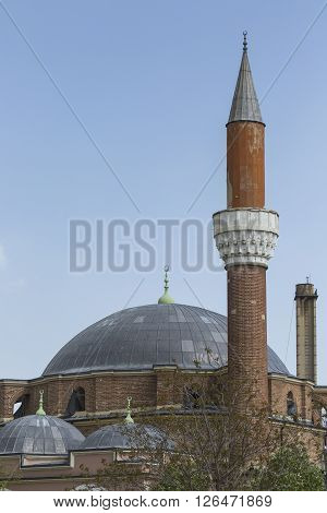 SOFIA BULGARIA - APRIL 14: The Banja Baschi mosque landmark and biggest mosque in April 14 2016