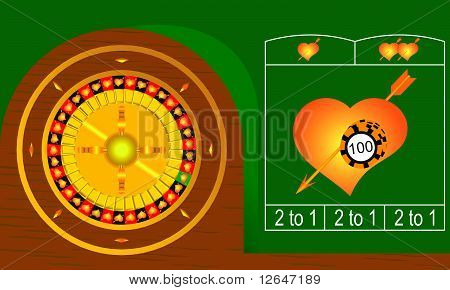 roulette hearts